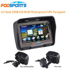 "4.3"" GPS Motorcycle Navigator BT Touch Moto Car Navigation Sat NAV 8GB Maps FM"