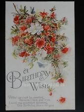 "Birthday Wish ""Altho' we can't be meeting Because I Love you True"" Old Postcard"