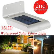 Solar Power 16 LED Motion Sensor Outdoor Waterproof Garden Security Lamp Light