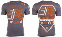 AMERICAN FIGHTER Men T-Shirt STONY BROOK Athletic CHARCOAL Biker Gym MMA $40