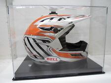 Motocross racing helmet acrylic display case 85% UV filtering solid black base