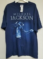 NWT Michael Jackson Dancing On Stage T-Shirt BlueTee Large