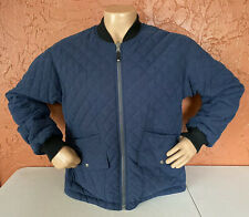 Tommy Hilfiger Quilted Blue Jacket Plaid Lining Sz M