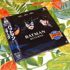 Batman Returns JAPAN 2 Disc LD Laser Disc Movie Laserdisc NJL-15000 Sealed #002