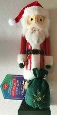 New HALLMARK NORTHPOLE Santa Claus WOODEN CHRISTMAS NUT CRACKER 2014