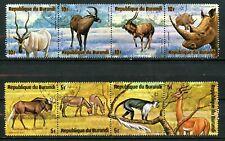 Burundi 1975, Scott # 479 & 482, Used, strips of 4.