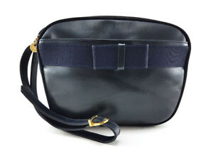 Salvatore Ferragamo Vara Black Leather Cross-body Handbag
