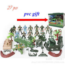 CHBR10 27pcs Military Toy Soldiers Army Men Blue Red Figures & Accessories Plays