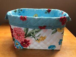 Sweet Rose Handmade Pioneer Woman Storage Basket Foldable Made New