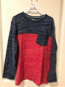 Boys size 14/16 Old Navy long sleeve Henley Shirt SIZE XL GUC NR