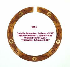 Acoustic Guitar Maple Wood with Inlay Rosette 1 Piece WR01@