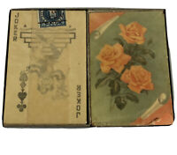 Vintage Art Deco Floral Playing Cards Sealed USIR Precancel Tax Stamp APC Co