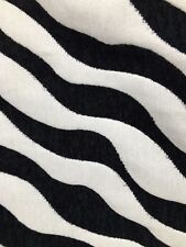 BLACK WHITE ZEBRA SWIRL CHENILLE UPHOLSTERY FABRIC (54 in.) Sold By The Yard