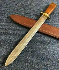 "18"" ALISTAR XL HANDMADE DAMASCUS STEEL DOUBLE EDGE HUNTING DAGGER KNIFE (1062"