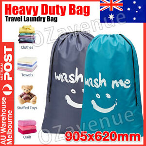 Laundry Bag Travel For Dirty Clothes Camping Drawstring Closure Washing Machines