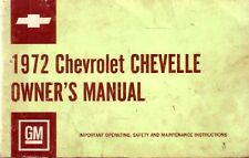 1972 Chevrolet Chevelle Owners Manual User Guide Reference Operator Book Fuses