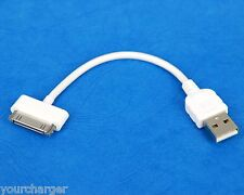 "4"" 10cm SHORT High Speed Fast Charging ONLY USB Cable WHITE for iPhone 4s 4 3GS"