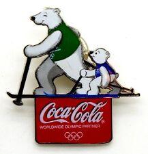 Pin Spilla Olimpiadi Torino 2006 - Coca-Cola Orsi Sci Di Fondo