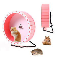 Silent Hamster Exercise Wheels - Quiet Spinner Hamster Running Wheels w/ Stand