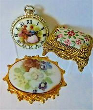 SOLID PERFUME LOT OF 3 PETIT POINT DESIGN  # 20