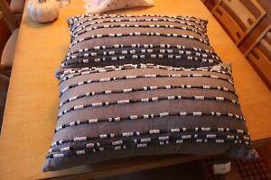 "Hotel Collection Linen 14"" X 24"" Decorative Pillows Pair"