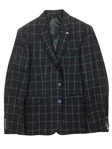 Remus Uomo - Navy Check Tweed Jacket - 40R - *NEW WITH TAGS* RRP £175