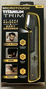 PERSONAL BODY HAIR & HAIRCUT TRIMMER - Groomer Microtouch Titanium Trim Cut NEW