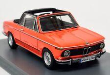 Neo 1/43 Scale - 43280 BMW 2002 Baur Orange Resin Model Car
