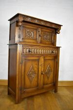Antique style very good quality carved buffet sideboard - dresser cupboard