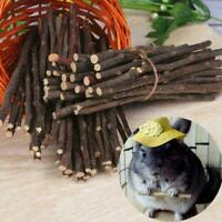 Natural Wood Chew Sticks Twigs For Pets Rabbit Hamster 50g Z1O0 Guinea Toy K5G3