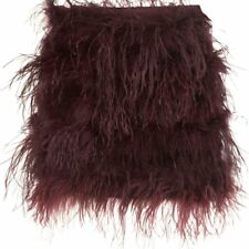 ICONIC 10 TOPSHOP PURPLE WINE  RED FEATHER MINI SKIRT