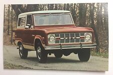 1973 FORD BRONCO   promotional postcard------------       ever own one???