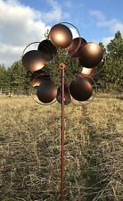 RETURN - Bronzed Inverse Circles Wind Garden Spinner - FREE SHIPPING!!!