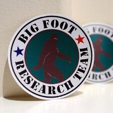 "Bigfoot Research Team Sasquatch Badge 4"" Decal Sticker #3541"