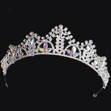 Pageant Silver Bridal Princess Crystal Tiara Wedding Crown Hair Accessory