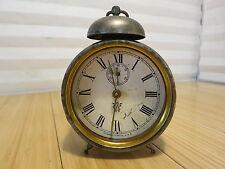 Old Westclox Waterbury Clock Co. Alarm Shelf Peg Leg Clock for Parts Restoration