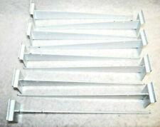 14 Long White Slatwall Metal Shelf Brackets With Lip Lot Of 9 S6422