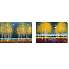 Blue Moon & Full Moon Panorama by Graves-Brown 2-pc Canvas Giclee Art Set
