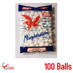 Napthalene Moth Balls Pest Control Moth Balls White Balls - 100 Ball