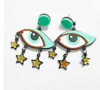 Fashion Women Acrylic Resin Eye Earrings Boho Dangle Drop Stud Earring