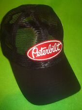 Peterbilt Hat:     Black All Mesh Summer Trucker's Cap     Free Shipping in USA