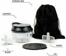 Manual Food Chopper, Food Processor. SS Construction. Chopping Blade, Velvet Bag