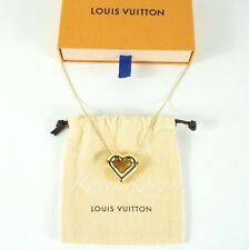 AUTH NEW WITH BOX LOUIS VUITTON HEART LV & ME GOLD CHAIN NECKLACE PENDANT M61138
