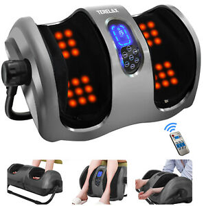 Shiatsu Kneading Rolling Foot ,Leg & Calf Massager with Heating and Remote New
