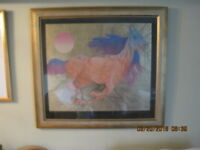 """GUILLAUME AZOULAY'S FRAMED DELUXE GOLD LEAF LTD EDITION SERIGRAPH """"VITESSE"""""""