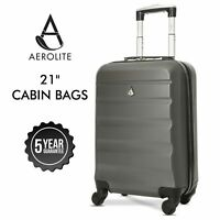 Aerolite Ryanair Cabin Bag Suitcase Lightweight Hand Luggage Hard Shell 55x35x20