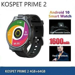 KOSPET PRIME 4G Smart Watch Men 4GB 64GB 13MP Camera 1600mAh GPS Smartwatch