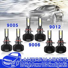 6x 9012 9005 9006 LED Headlights Fog Light for Ram 1500 2500 3500 2013 2014 2015
