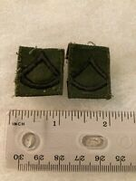 Authentic US Army Private First Class PFC E3 Rank BDU OD Green Insignia Patch