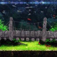 Aquarium Bridge Ornament Fish Tank Decor Resin Decoration Rock Stone Landscape